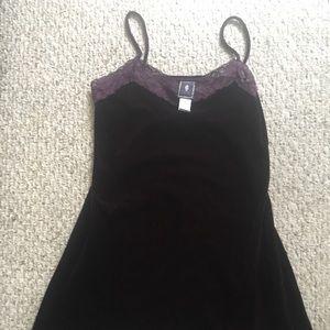 Morbid Threads Purple Velvet Dress